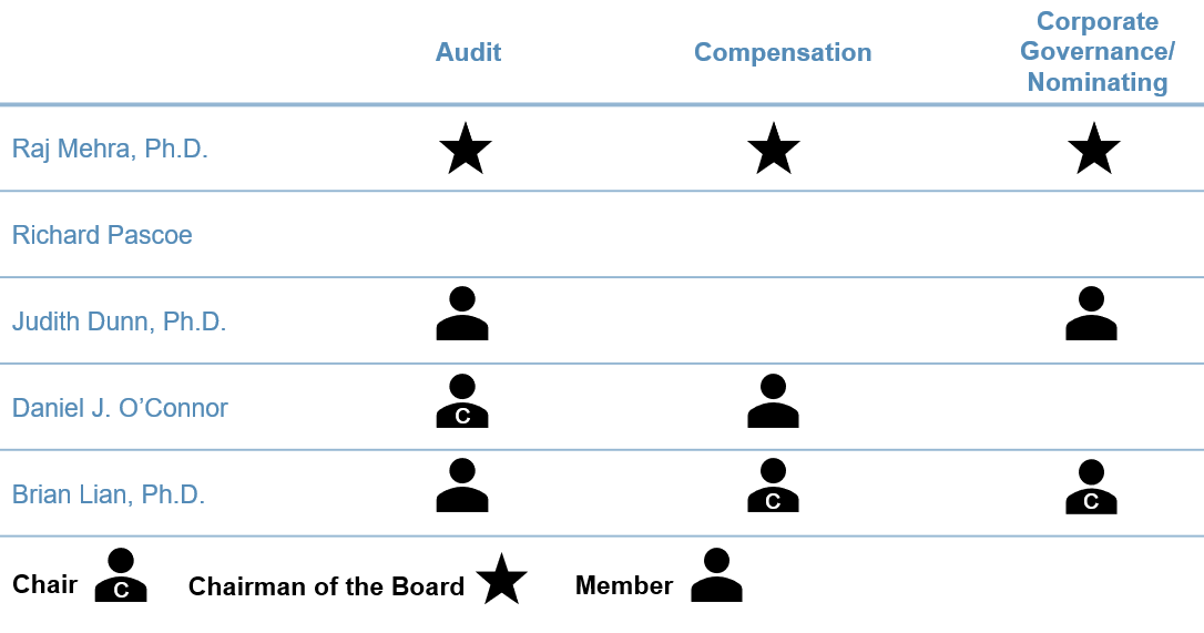Seelos Committee Structure May 2020