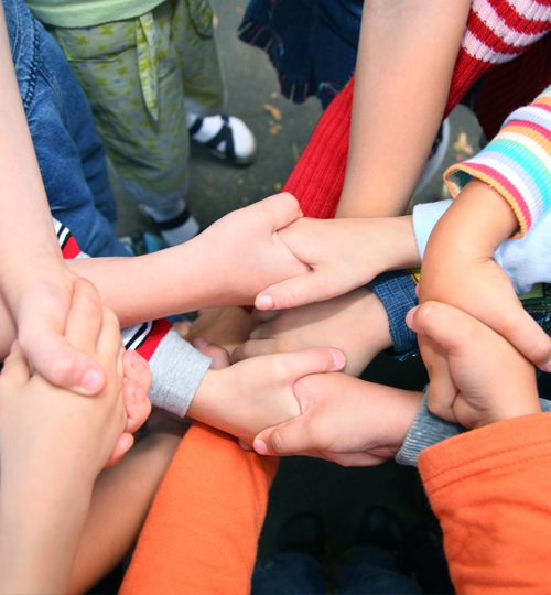 Photo: Hands connecting in group