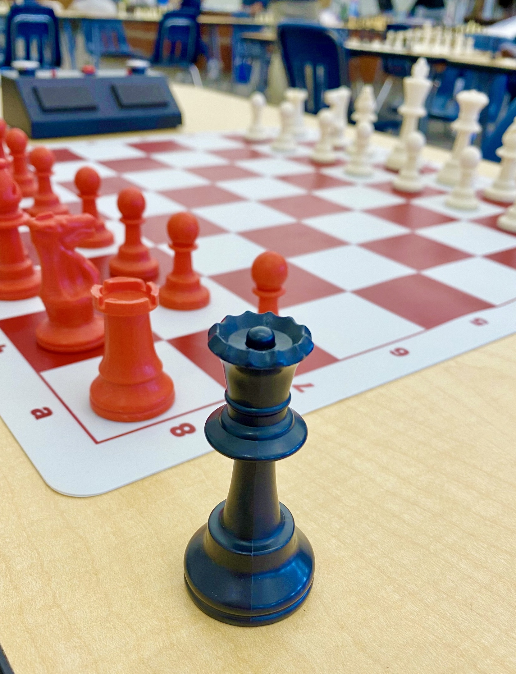 Photo: Close up of chess pieces