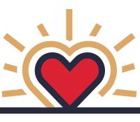 Icon: Enroll heart rising up