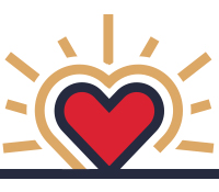 Icon: Enroll heart rising up