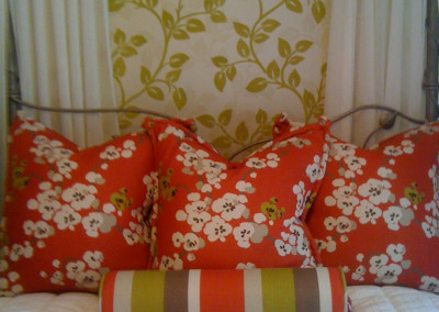 Bedcover and pillows
