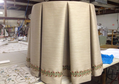 Tablecloth Inverted Pleat