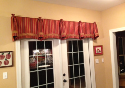 Valance shaped with cones