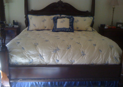 coverlet tufted quilting