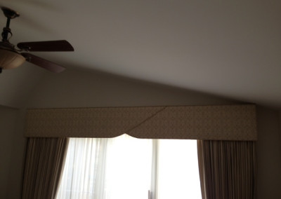 shaped cornice with panels
