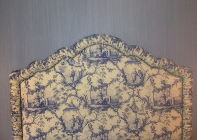 shirred shaped headboard quilted