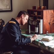 soldier writing letter