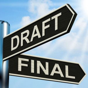 Draft Final Signpost Meaning Writing Rewriting And Editing