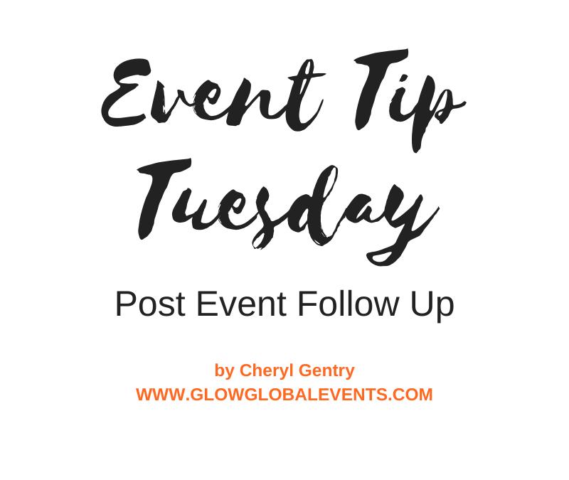 Event Tip: Post Event Follow Up