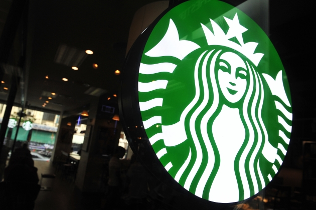 Starbucks Logo Window Display