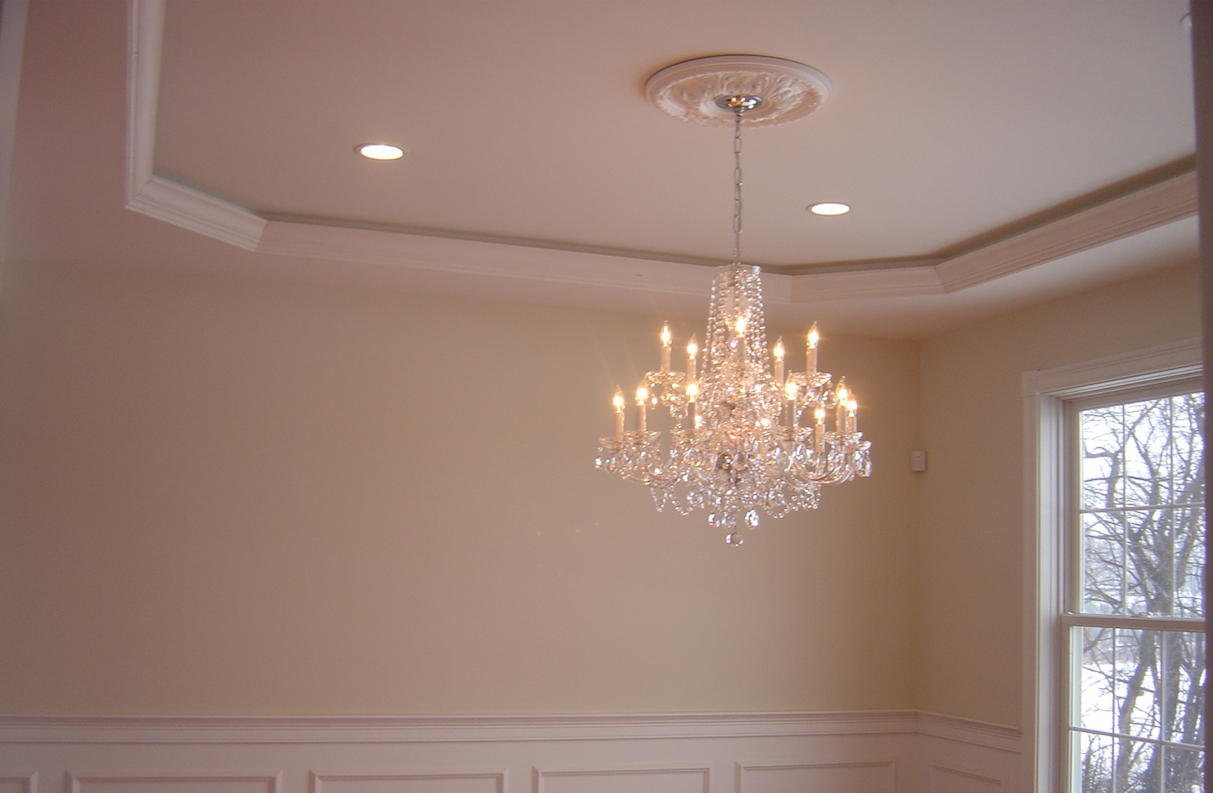 Custom Tray Ceiling with Rope Lighting