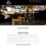 BeGraphic Website Design Sample-Castle Spirits Distillery
