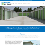 BeGraphic Website Design Sample-Memorial Self Storage