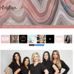 BeGraphic Website Design Sample-Radian Medical Spa
