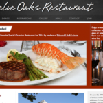 BeGraphic Website Design Sample-Twelve Oaks Restaurant