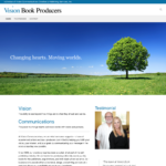 BeGraphic Website Design Sample-Vision Book Producers