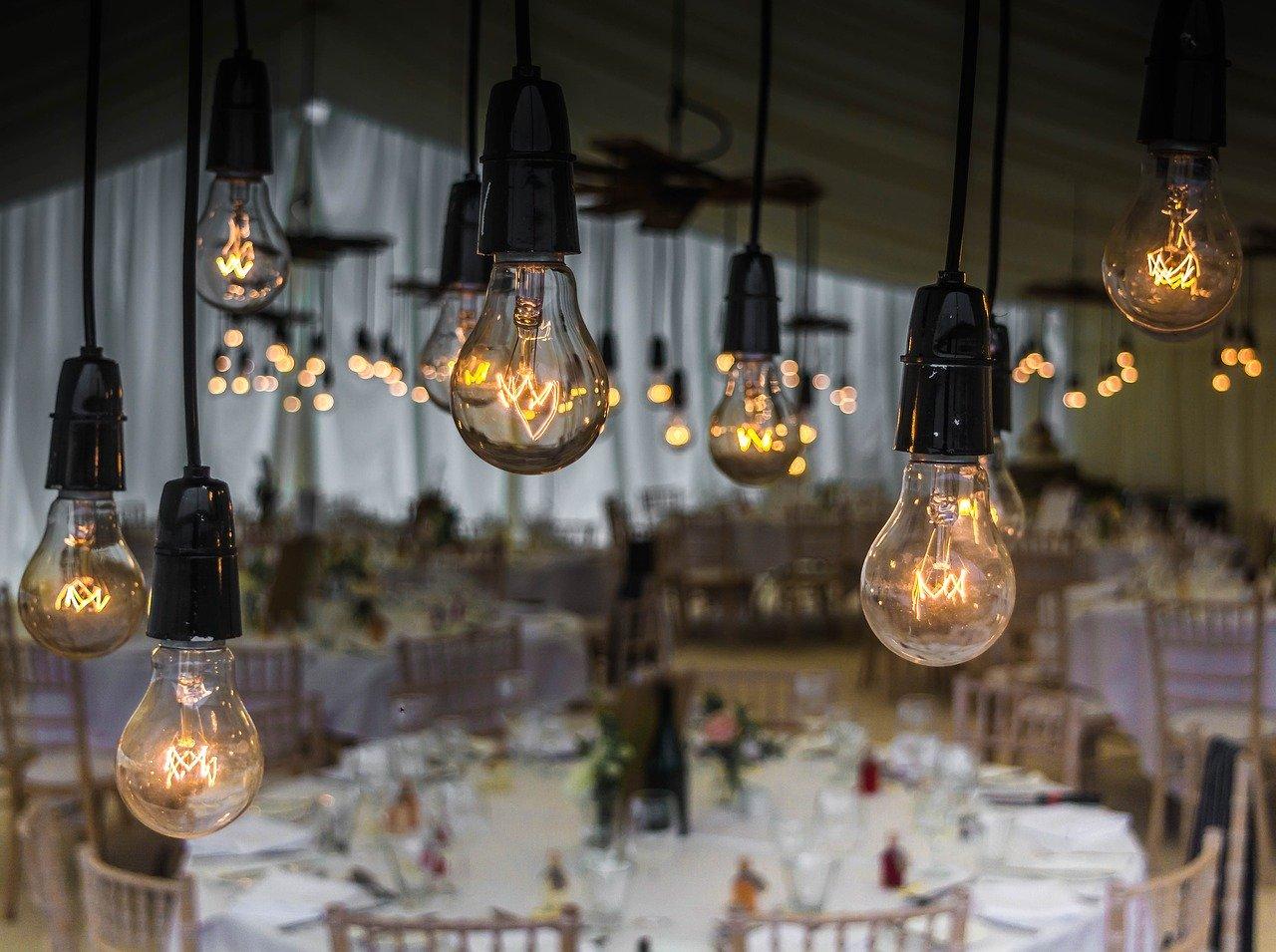 wedding, bulbs, lighting
