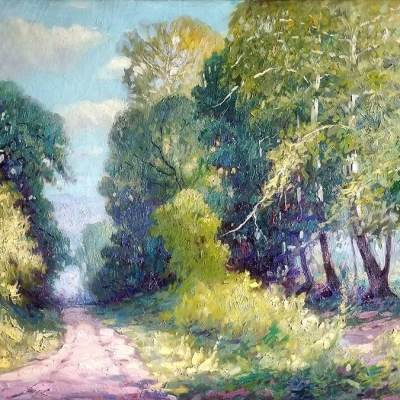 Clarence-W-Staley-The-Road-to-Cattail-Creek-30x40-Oil-on-Canvas-575