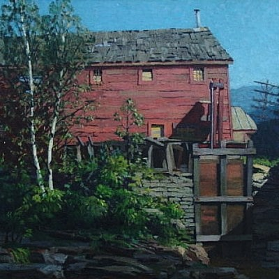 Amy Jones The Red Mill 1928 25x30 Oil on Canvas