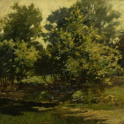 Frank J Girardin Indiana Trees 9x12 Oil on Board