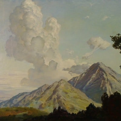 Ralph Brownell McGrew Distant Thunderclouds 23x29 Oil on Canvas