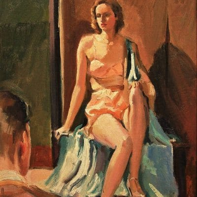 Ralph von Lehmden The Model 20x16 Oil on Canvas Board