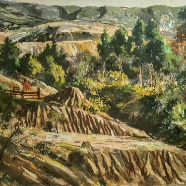 Alexander Ignatiev Laguna Canyon 22x30 watercolor