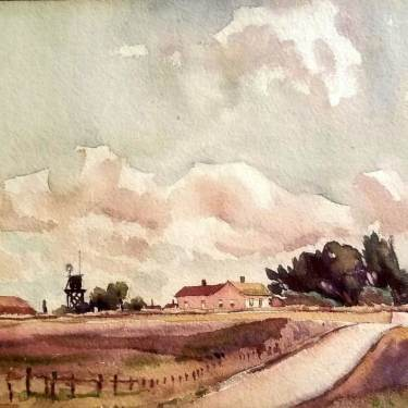 William Ross Cameron Haydenville CA 7x9 Watercolor