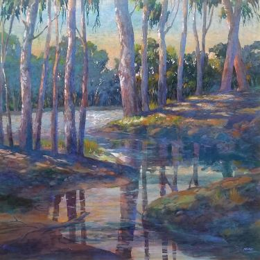 Dan Munz Creek Reflections 36x36 Oil on Canvas