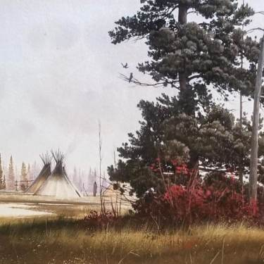 Jeffrey H Craven Morning Light 7x10 Watercolor