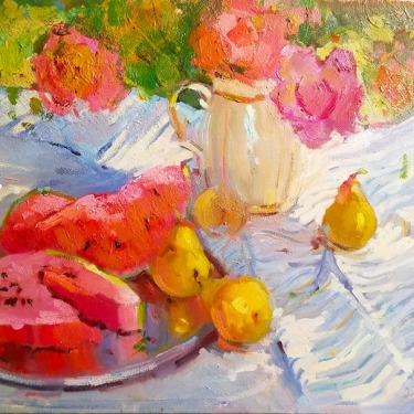 Kanya-Bugreyev-Have-a-Slice-20x30-oil-on-canvas-Contemporary-675