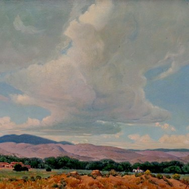 Rygh Westby Coming Home New Mexico 22x30 Oil on Board