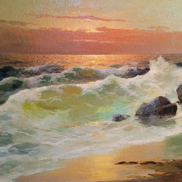 G Rossi Beach Sunset 24x36 Oil on Canvas 495
