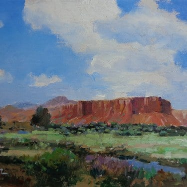 Felice Hrovat Arizona Mesas 9x12 Oil on Board