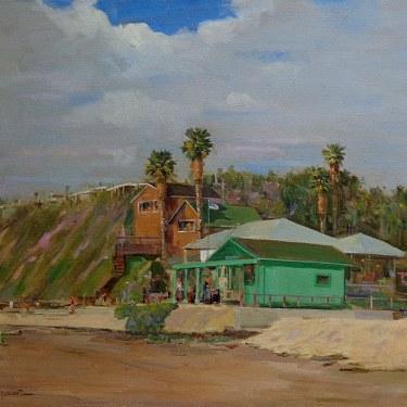 Felice Hrovat Artist Shack at Crystal Cove 24x30 Oil on Canvas