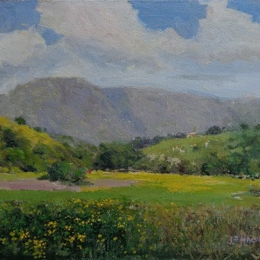 Felice Hrovat California Day 12x16 Oil on Canvas
