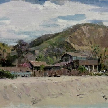 Felice Hrovat Crystal Cove Homestead 12x16 Oil on Board