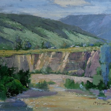 Felice Hrovat Dry Riverbed 9x12 Oil on Board