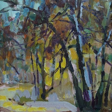 Felice Hrovat Grove 8x6 Oil on Board