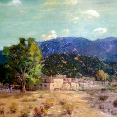 Felice Hrovat Taos Pueblo 24x30 Oil on Canvas