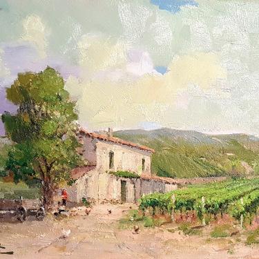Felice Hrovat The Old Vineyard 11x14 Oil on Canvas