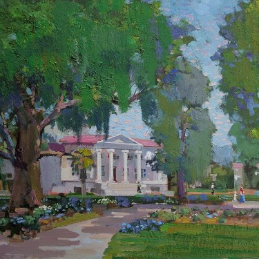 Felice Hrovat Walkway–Claremont Colleges 16x20 Oil on Canvas