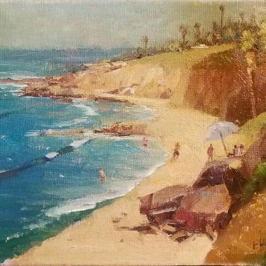 Felice Hrovat A Beachy Day 8x10 Oil on Canvas