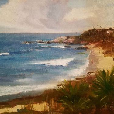Felice Hrovat Scenic North Laguna 12x16 Oil on Board