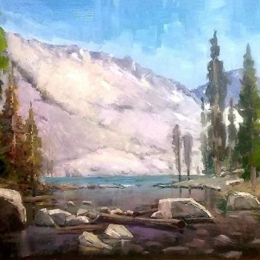 Felice Hrovat Sierra Lake 16x24 Oil on Board