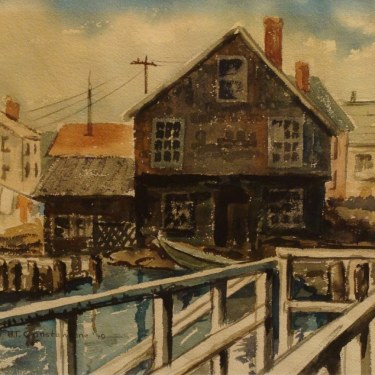 BT Constantine Fisherman's Home 9x12 Watercolor