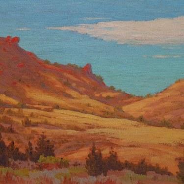 Carl D Hegner Golden California Hills 12x16 Oil on Board