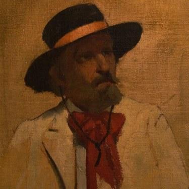 Frank L Sanford Country Gentleman 24x20 Oil on Canvas