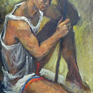 George Michaud The Athlete 36x24 Oil on Canvas